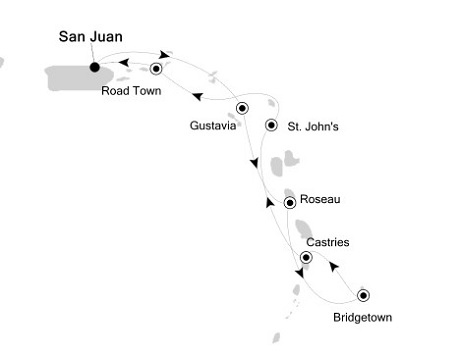 SINGLE Cruise - Balconies-Suites Silversea Silver Wind February 19-26 2019 San Juan to San Juan