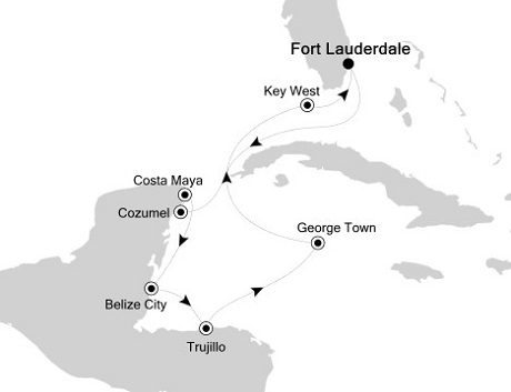 Silversea Silver Wind January 18-29 2016 Fort Lauderdale, Florida to Fort Lauderdale, Florida