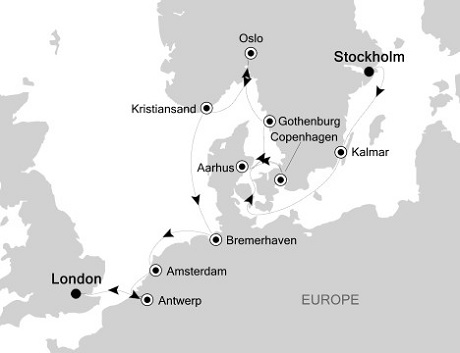 Singles Cruise - Balconies-Suites Silversea Silver Wind July 9-21 2019 Stockholm to London (Tower Bridge)