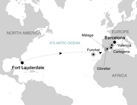 SINGLE Cruise - Balconies-Suites Silversea Silver Wind March 28 April 13 2019 Fort Lauderdale, Florida to Barcelona