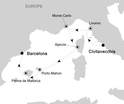 Singles Cruise - Balconies-Suites Silversea Silver Wind November 8-15 2019 Rome (Civitavecchia), Italy to Barcelona, Spain