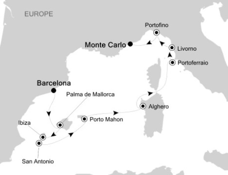 LUXURY CRUISES FOR LESS Silversea Silver Wind September 30 October 10 2020 Barcelona, Spain to Monte Carlo, Monaco