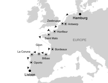 Singles Cruise - Balconies-Suites Silversea Silver Wind September-9-23 2020 Hamburg, Germany to Lisbon, Portugal