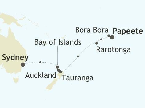 ALL SUITES CRUISE SHIPS - Silver Whisper World Cruise 2022 Papeete, Tahiti, French Polynesia to Sydney, Australia