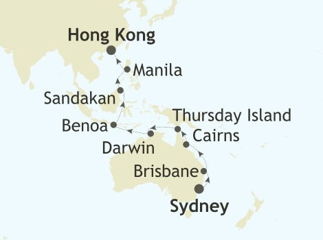 SINGLE Cruise - Balconies-Suites Silver Whisper World Cruise 2019 Sydney, Australia to Hong Kong, China