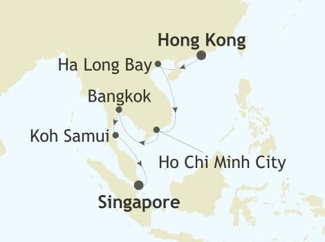 ALL SUITES CRUISE SHIPS - Silver Whisper World Cruise 2022 Hong Kong, China to Singapore, Singapore
